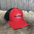#800 Black Widow Summer Cap-Red & Black