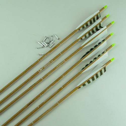 515 Fletched Carbon Express Heritage Wood Grain Arrows