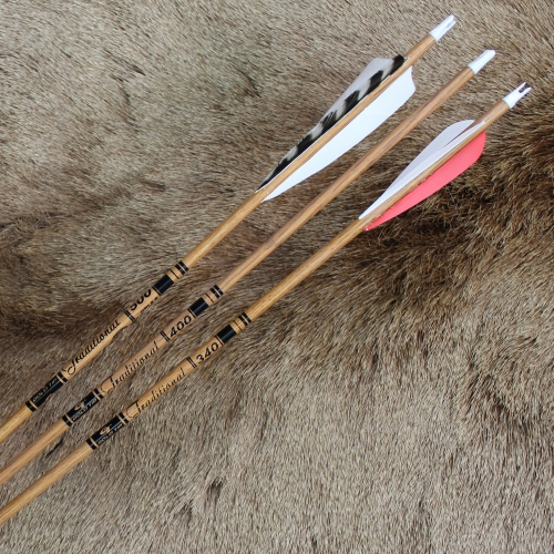 #502 Gold Tip Traditionals Carbon Wood Grain Arrows/Shafts