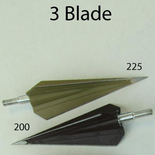 #573 Grizzly Instinct 3 Blade Screw In Broadheads
