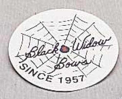 #821 Black Widow Logo Sticker