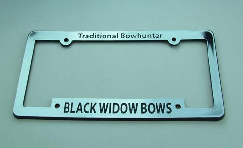 #823 Black Widow License Plate Frame